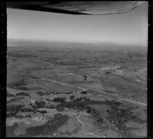 Aerial view of the Waikato looking south