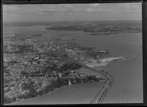 Central Auckland including wharves and harbour bridge