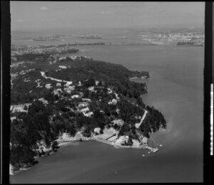 Kauri Point, including wharf, North Shore, Auckland