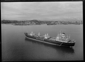 Container ship, Bluebird, in Auckland Harbour