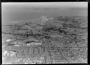 Wiri, with Mangere International Airport in the distance, Manukau, Auckland