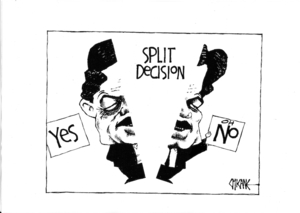 Split decision. 24 September, 2008
