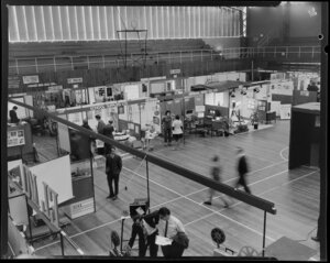 Aveee 1974 exhibition with general view of stalls