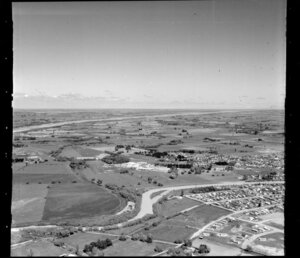Outskirts of Kaiapoi, Canterbury, including the freezing works