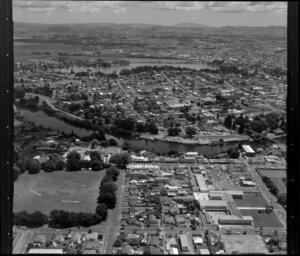 Waikato River, Hamilton with Lake Rotoroa in the background