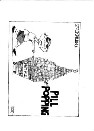 'StockPILLing'. 'PILL shoPOPPING'. 1 April, 2008