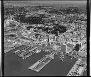 Central Auckland showing wharves and markets