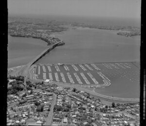 Waitemata Harbour including Westhaven Marina and Auckland Harbour Bridge