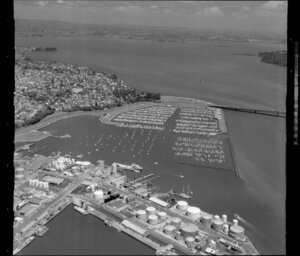 Waitemata Harbour including Westhaven Marina and Auckland wharves