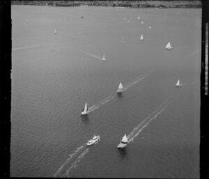 A yacht race on the Waitemata Harbour, Auckland Regatta event