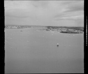 A yacht race on the Waitemata Harbour, Auckland Regatta event