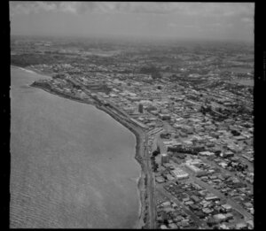 New Plymouth and coastline
