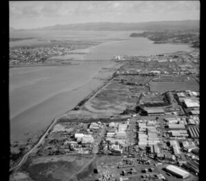 Industrial area and Pikes Point, Onehunga, Auckland
