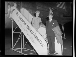 Mr and Mrs S Kendrick-Guernsey arriving on Pan American World Airways