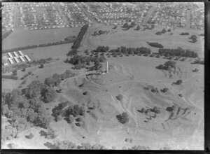Aerial view of One Tree Hill, Auckland