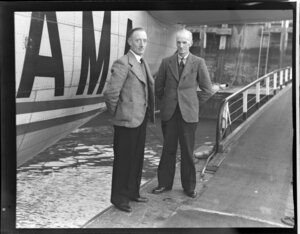 Tasman Empire Airways Ltd staff members, Messrs Bolt and Coulson