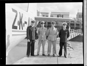 Tasman Empire Airways Ltd and British Overseas Airways Corporation crew members, Messrs Wills, Griffiths, Garden and Coulson