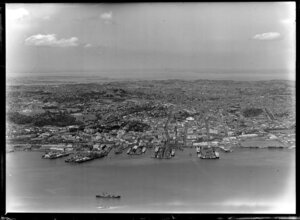 City and harbour, Auckland