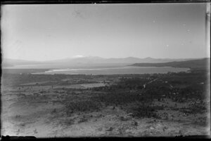 Lake Taupo, includes Mount Tongariro in the background, Taupo district