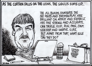Scott, Thomas, 1947- :As the curtain falls on the Lions, the genius sums up... Dominion Post. 11 July 2005.