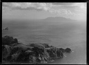 Katherine Bay, Great Barrier Island, and Little Barrier Island in the distance