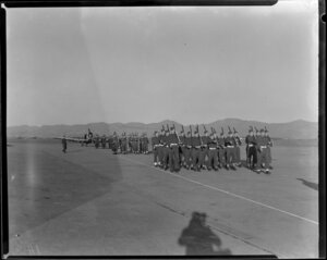 Air Force basic training drill and marching