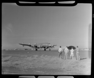 Qantas Lockheed Constellation aircraft VH-EAD, Charles Kingsford Smith, Darwin, Australia