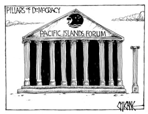 Winter, Mark 1958- :Pillars of Democracy - Pacific Islands Forum. 8 September 2011