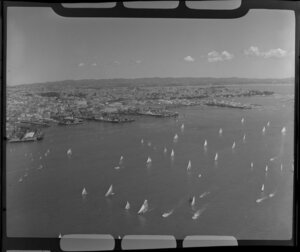 Yachting regatta, Auckland Harbour