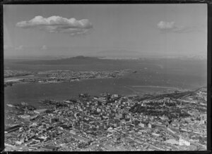 Auckland City with Rangitoto Island in the background