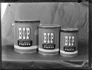 British Imperial Paints Limited Auckland, paint tins