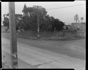 Part one of a two-part panorama of Hellaby's Ltd, Westfield, South Auckland