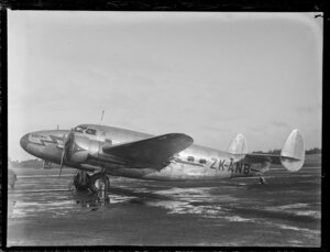 New Zealand National Airways Corporation (NAC) Lodestar aircraft, Karuwai, ZK-ANB