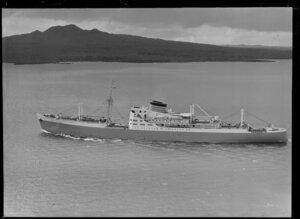 The ship Port Auckland on Waitemata Harbour, Auckland