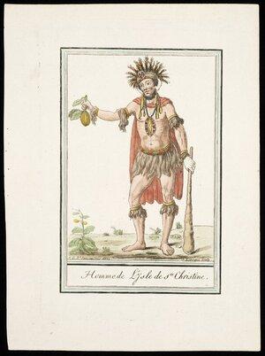 Grasset de Saint-Sauveur, Jacques, 1757-1810 :Homme de l'Isle de Ste Christine. J G St Sauveur inv. direx; J Laroque sculp. [Paris, 1796?]
