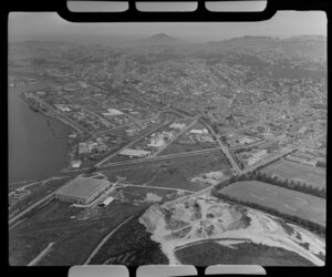 Dunedin waterfront area; Donald Reid and Company Limited to the left.