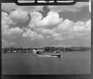 Tasman Empire Airways Ltd tugboat, Mechanics Bay, Auckland