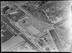 Swimming competition, British Empire Games, Olympic Pool, Newmarket, Auckland