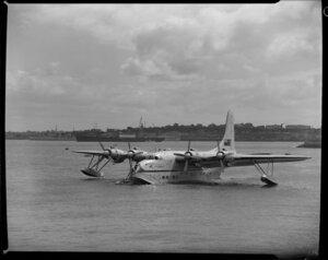 Tasman Empire Airways Ltd, Solent IV flying boat, RMA Aotearoa II, ZK-AML, Mechanics Bay, Auckland