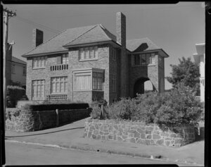 Front view of American Consulate's house, Auckland