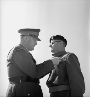 General Freyberg presenting Major Pike with the Military Cross in Maadi