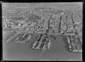 Auckland city showing wharves