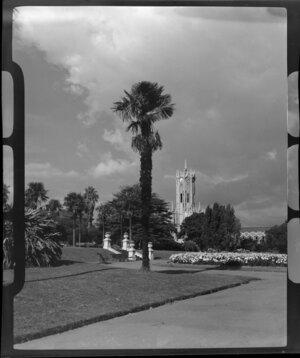 Albert Park, Auckland, looking towards University of Auckland Clock Tower