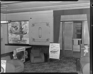 Pan American World Airways display, foyer area of His Majesty's Theatre