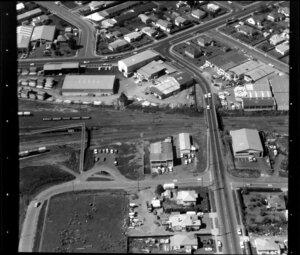 Industrial area, Otahuhu, Auckland, including Odlins Limited timberyard