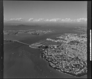 Auckland Harbour Bridge and inner harbour
