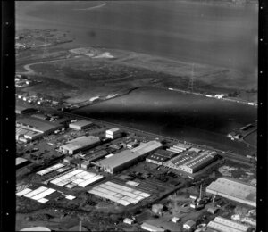 Industrial area, including sportsground, Onehunga, Auckland