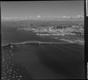 Auckland Harbour Bridge and inner harbour