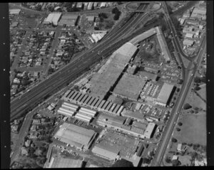 Reid Rubber Mill, Auckland, including motorway