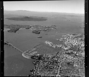 Auckland City, including Waitemata Harbour, North Shore City, and islands of the Hauraki Gulf